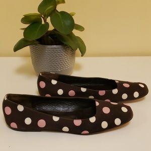 Kate spade NY polka dot square toe flats
